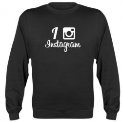 Реглан (свитшот) I love Instagram - FatLine