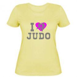 Женская футболка I love Judo