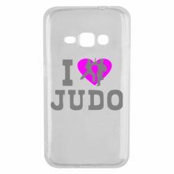 Чехол для Samsung J1 2016 I love Judo