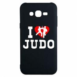 Чехол для Samsung J7 2015 I love Judo