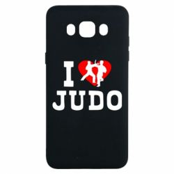 Чехол для Samsung J7 2016 I love Judo