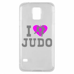 Чехол для Samsung S5 I love Judo