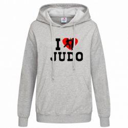Женская толстовка I love Judo - FatLine