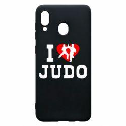 Чехол для Samsung A20 I love Judo