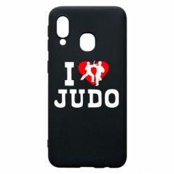 Чехол для Samsung A40 I love Judo
