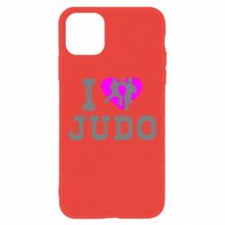 Чехол для iPhone 11 I love Judo