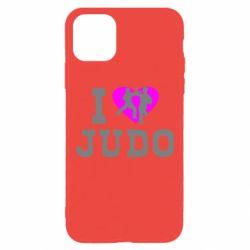 Чехол для iPhone 11 Pro Max I love Judo