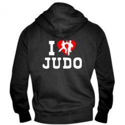 Мужская толстовка на молнии I love Judo