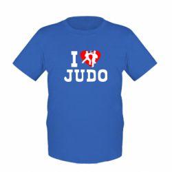Детская футболка I love Judo