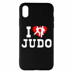 Чехол для iPhone X/Xs I love Judo