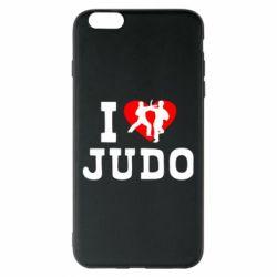 Чехол для iPhone 6 Plus/6S Plus I love Judo