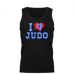 Мужская майка I love Judo