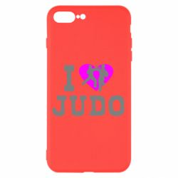 Чехол для iPhone 8 Plus I love Judo