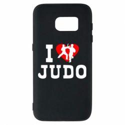 Чехол для Samsung S7 I love Judo