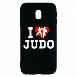 Чехол для Samsung J3 2017 I love Judo