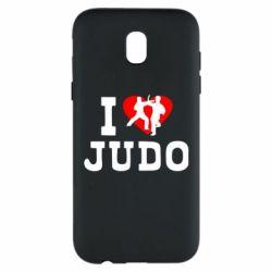 Чехол для Samsung J5 2017 I love Judo