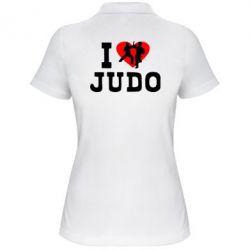 Женская футболка поло I love Judo - FatLine