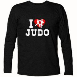 Футболка с длинным рукавом I love Judo - FatLine