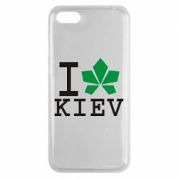 Чехол для Huawei Y5 2018 I love Kiev - с листиком - FatLine