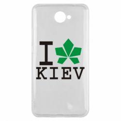 Чехол для Huawei Y7 2017 I love Kiev - с листиком - FatLine