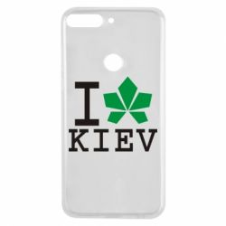 Чехол для Huawei Y7 Prime 2018 I love Kiev - с листиком - FatLine
