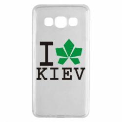 Чехол для Samsung A3 2015 I love Kiev - с листиком - FatLine