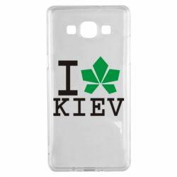 Чехол для Samsung A5 2015 I love Kiev - с листиком - FatLine