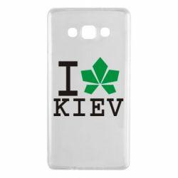 Чехол для Samsung A7 2015 I love Kiev - с листиком - FatLine
