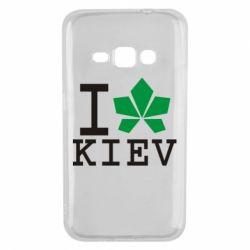Чехол для Samsung J1 2016 I love Kiev - с листиком - FatLine