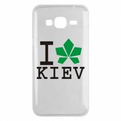 Чехол для Samsung J3 2016 I love Kiev - с листиком - FatLine