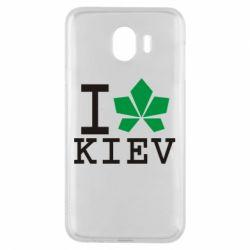 Чехол для Samsung J4 I love Kiev - с листиком - FatLine