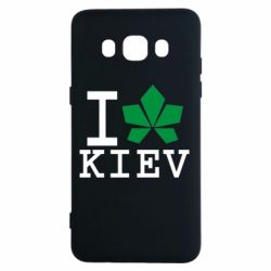 Чехол для Samsung J5 2016 I love Kiev - с листиком - FatLine
