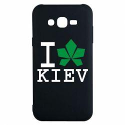 Чехол для Samsung J7 2015 I love Kiev - с листиком - FatLine