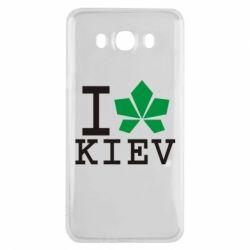 Чехол для Samsung J7 2016 I love Kiev - с листиком - FatLine