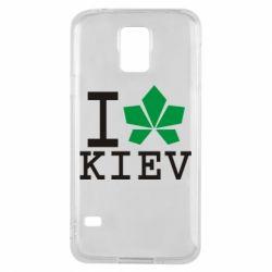 Чехол для Samsung S5 I love Kiev - с листиком - FatLine