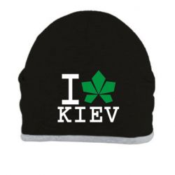 Шапка I love Kiev - с листиком