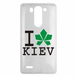 Чехол для LG G3 mini/G3s I love Kiev - с листиком - FatLine