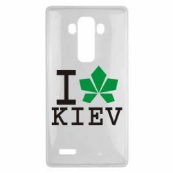 Чехол для LG G4 I love Kiev - с листиком - FatLine
