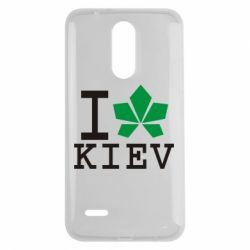 Чехол для LG K7 2017 I love Kiev - с листиком - FatLine