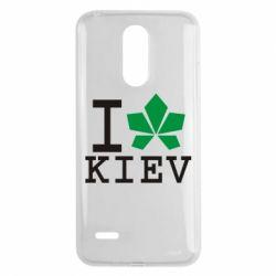 Чехол для LG K8 2017 I love Kiev - с листиком - FatLine