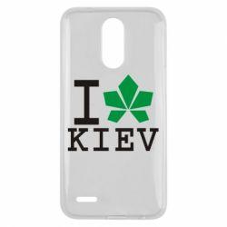 Чехол для LG K10 2017 I love Kiev - с листиком - FatLine
