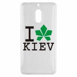 Чехол для Nokia 6 I love Kiev - с листиком - FatLine