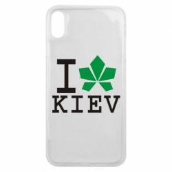 Чехол для iPhone Xs Max I love Kiev - с листиком - FatLine