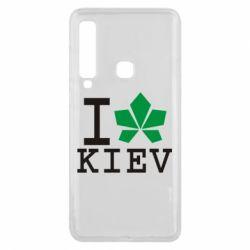 Чехол для Samsung A9 2018 I love Kiev - с листиком - FatLine