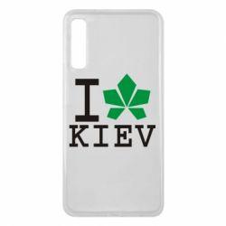 Чехол для Samsung A7 2018 I love Kiev - с листиком - FatLine