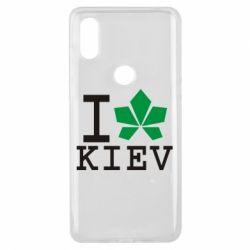 Чехол для Xiaomi Mi Mix 3 I love Kiev - с листиком - FatLine