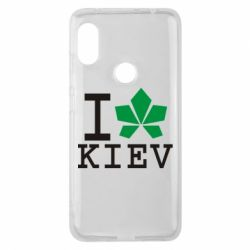 Чехол для Xiaomi Redmi Note 6 Pro I love Kiev - с листиком - FatLine