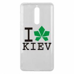 Чехол для Nokia 8 I love Kiev - с листиком - FatLine