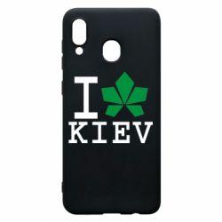 Чохол для Samsung A20 I love Kiev - з листком