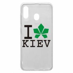 Чохол для Samsung A30 I love Kiev - з листком